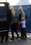 Pregnant Gwen Stefani with her family at Cirque Du Soleil
