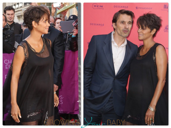 Pregnant Halle Berry and Olivier Martinez attend the Champs Elysees Film Festival 2013 in Paris, France