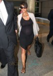 Newlyweds Halle Berry & Olivier Martinez Arriving On A Flight At LAX