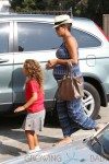 READY TO POP! Halle Berry shows off her pregnancy curves while running errands with daughter Nahla in Los Angeles