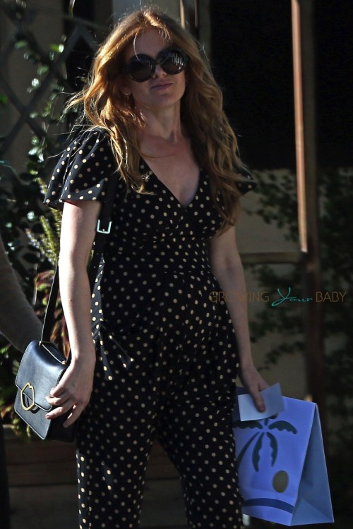 Pregnant Isla Fisher out in Los Angeles