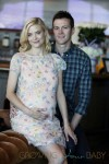 Pregnant Jaime King glowed as she showed off her favorite new baby gifts, including the Nuna ZAAZ highchair, during her baby shower on August 17, 2013