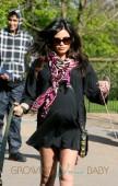 Pregnant Jenna Dewan-Tatum walks her dogs in London