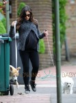Pregnant Jenna Dewan Takes The Dogs For A Walk