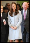 A pregnant Kate Middleton, The Duchess of Cambridge visits Kensington Aldridge Academy