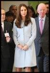 A pregnant Kate Middleton, The Duchess of Cambridge visits Kensington Aldridge Academy