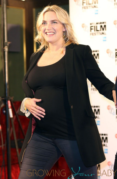 Pregnant Kate Winslet At Labour Premiere Growing Your Baby