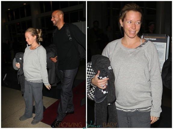 Pregnant Kendra Wilkinson & Hank Baskett at LAX