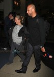 Pregnant Kendra Wilkinson and Hank Baskett at LAX