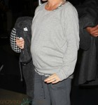 Pregnant Kendra Wilkinson at LAX