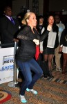 Pregnant Kendra Wilkinson dances at the Celebrity GAEMS Pro XP Event in NYC
