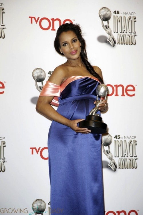 Pregnant Kerry Washington - 45th NAACP Image Awards