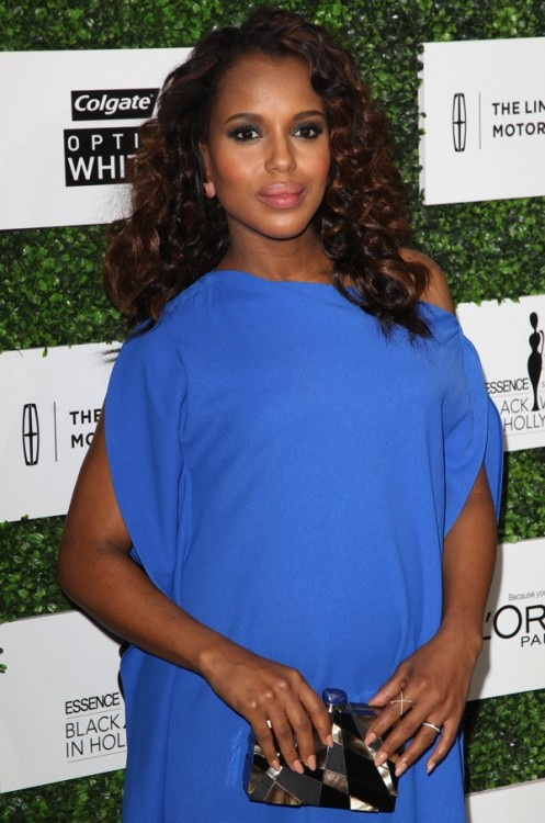 Pregnant Kerry Washington red carpet the 2014 ESSENCE Black Women in Hollywood Luncheon