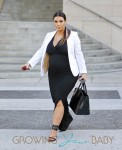 Pregnant Kim Kardashian Lunches With Friends in LA
