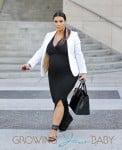 Pregnant Kim Kardashian Lunches With Friends in LA