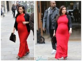 Pregnant Kim Kardashian and Kanye West in Paris