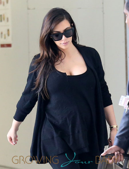 Kim Kardashian Catches A Flight Out Of Paris