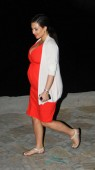 Pregnant Kim Kardashian leaving a Yacht in Greece