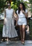 Pregnant Kourtney Kardashian films in downtown South Hampton with Stacey Bendet