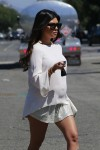 Pregnant Kourtney Kardashian out in LA