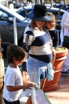 Pregnant Kourtney Kardashian out in San Diego with her kids Mason & Penelope Disick