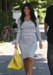 Pregnant Kourtney Kardashian  out in the hamptons