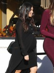 Pregnant Kourtney Kardashian shopping at Bel Bambini