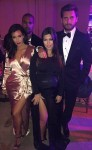 Pregnant Kourtney Kardashian with sister Kim, Kanye West and Scott Disick at Scott Sartiano's wedding