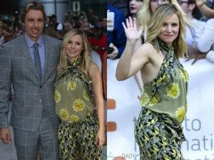 Pregnant Kristen Bell and husband Dax Shepard at the Toronto International Film Festival