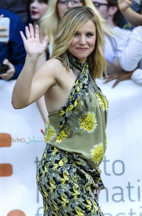 Pregnant Kristen Bell at the Toronto International Film Festival
