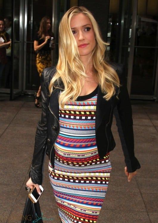 Pregnant Kristin Cavallari leaves Sirius Radio in NYC