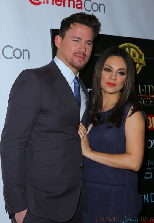 Pregnant Mila Kunis and Channing Tatum on the red carpet at CinemaCon 2014