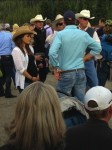 Pregnant Mila Kunis at the rodeo in Montana