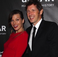 Milla Jovovich is Radiant in Red At amfAR Gala