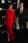 Pregnant Milla Jovovich & husband Paul WS Anderson at the amfAR LA Inspiration Gala Honoring Tom Ford