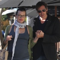 Milla Jovovich & Paul Anderson Lunch in LA