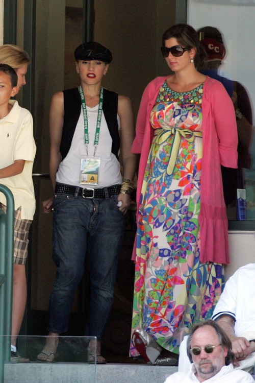 ***RESTRICTIONS APPLY***EXCLUSIVE** Gwen Stefani, Zuma, Kingston and Mirka Vavrinec at the BNP Paribas Open