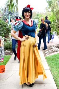 Pregnant Molly SIms Out For Halloween