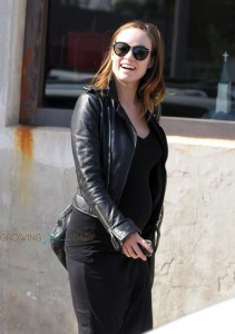 Pregnant Olivia Wilde out shopping in LA