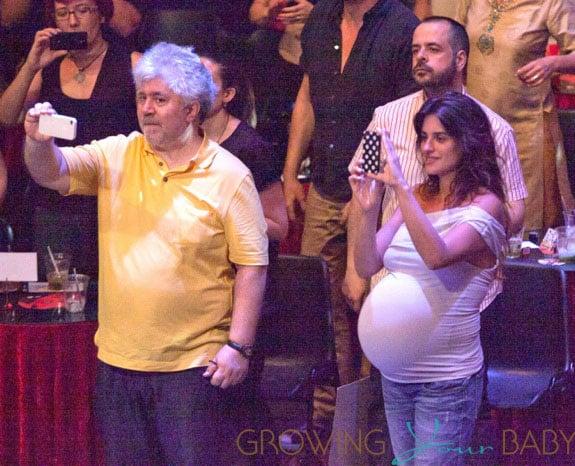 Penelope Cruz and Pedro Almodovar attending the Asier Etxeandia Concert at Price Circus Theatre in Madrid
