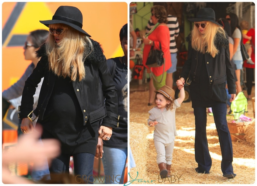 Pregnant Rachel Zoe at the Pumpkin Patch with son Skyler