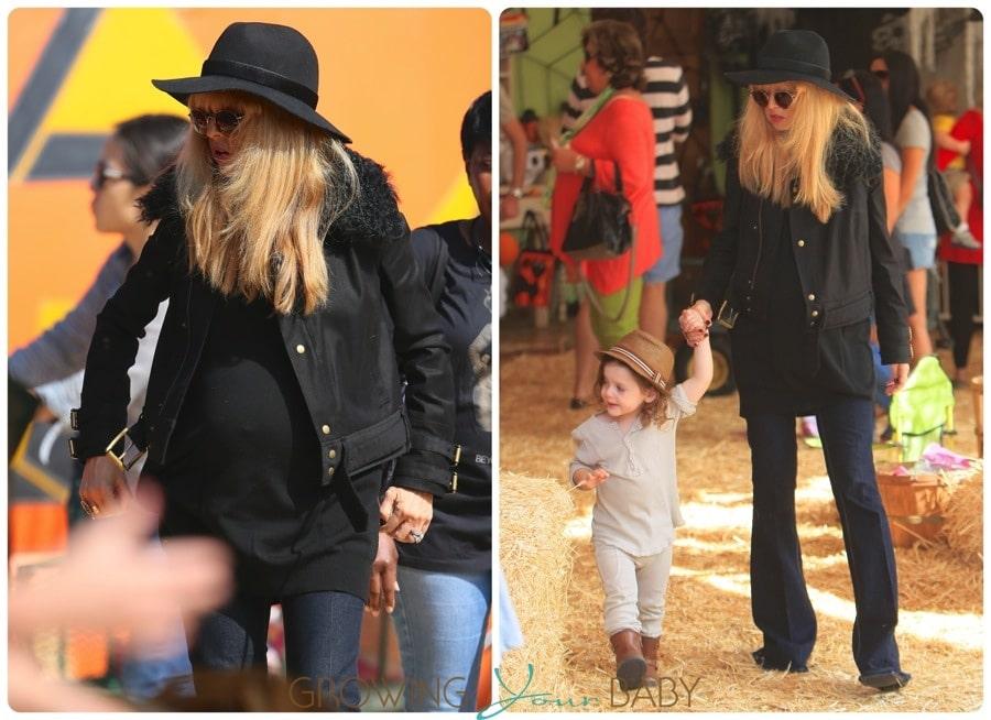 Pregnant Rachel Zoe at the Pumpkin Patch with son Skyler