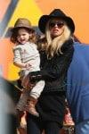 Pregnant Rachel Zoe with son Skyler Berman at the pumpkin Patch in LA