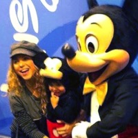 Shakira Visits the Disney Store With Her Son Milan