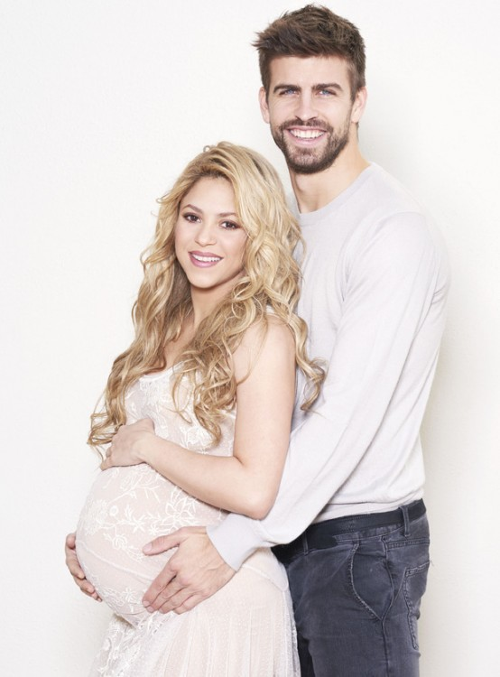 Pregnant Shakira with husband Girard Pique for UNICEF