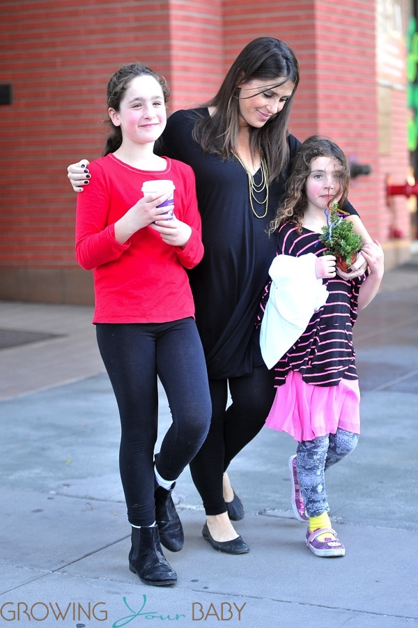 Pregnant Soleil Moon Frye With daughters Poet and Jagger