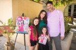 Pregnant Soleil Moon Frye and Jason Goldberg with their girls Poet and Jagger at her book release Party