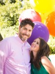 Pregnant Soleil Moon Frye and husband  Jason Golberg at her book release Party
