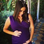 Pregnant Soleil Moon Frye in Liz Lange dress
