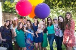 Pregnant Soleil Moon Frye with friends at her book release Party